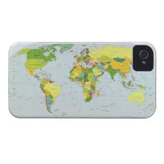 Earth Political Map 2007 iPhone 4 Case-Mate Cases