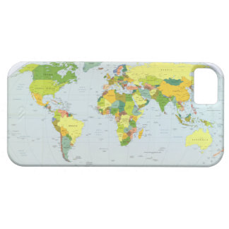 Earth Political Map 2007 iPhone 5 Covers