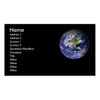 Earth Profile card - Business Card.