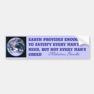 Earth provides bumper sticker