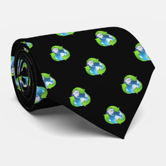 Earth Recycle Environment Tie