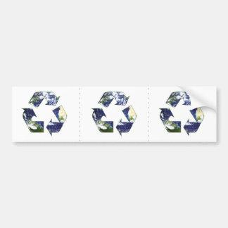 Earth - Recycling Car Bumper Sticker