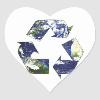 Earth - Recycling Heart Sticker
