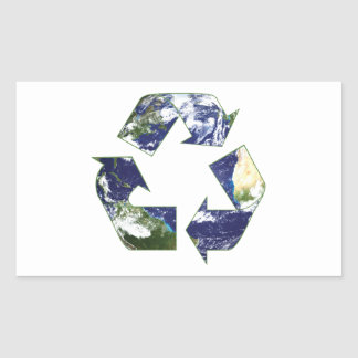 Earth - Recycling Rectangle Stickers