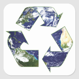 Earth - Recycling Stickers