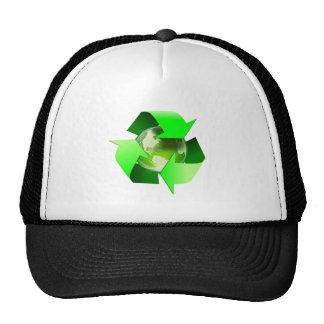 Earth Recycling Symbol Ecology globe Cap