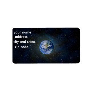 Earth Return Address Lables Label