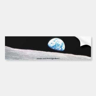 Earth rise bumper sticker