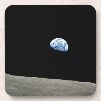 Earth Rises From Moon Drink Coasters