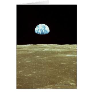 Earth rising over Moon Card