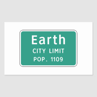 Earth, Road Marker, Texas, USA Rectangle Stickers