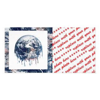 Earth s Meltdown W Earth Trim Photo Cards