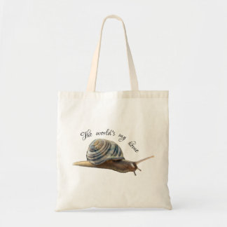 Earth Shell Snail Tote - The world's my home