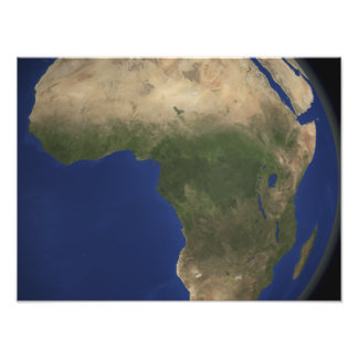 Earth showing landcover over Africa Photograph