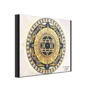 Earth Star Chakra Mandala Canvas Print