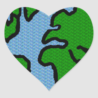 Earth Heart Stickers