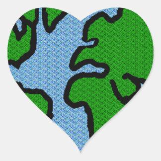 Earth Heart Stickers