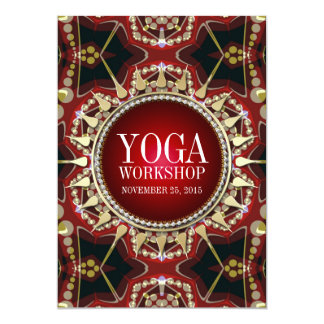 "Earth Sun Shine Yoga Workshop Invitation 5"" X 7"" Invitation Card"