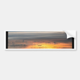 Earth sunset from the International Space Station Bumper Sticker