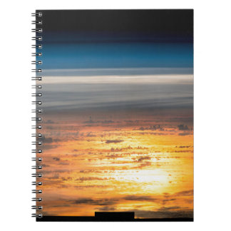 Earth sunset from the International Space Station Spiral Notebooks