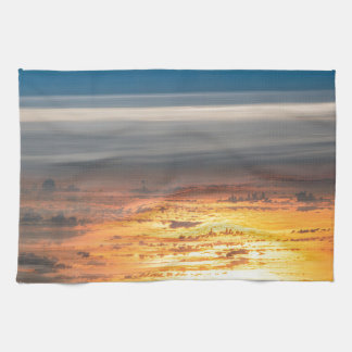 Earth sunset from the International Space Station Tea Towels