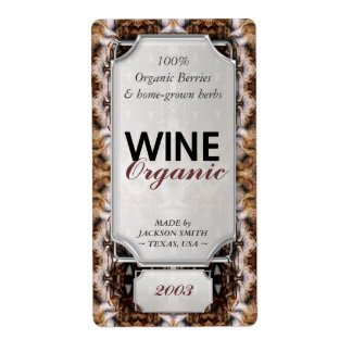 Earth Tapestry Custom Text Wine Bottle Labels