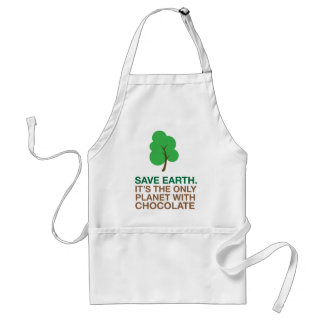 Earth, The Only Planet With Chocolate Standard Apron
