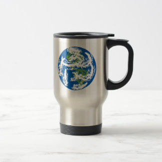 Earth, Think green,  and blue, and white. Travel Mug