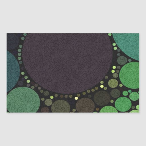 Earth Tone Abstract Dots Rectangle Sticker