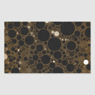 Earth Tone Abstract Polkadot Rectangle Sticker