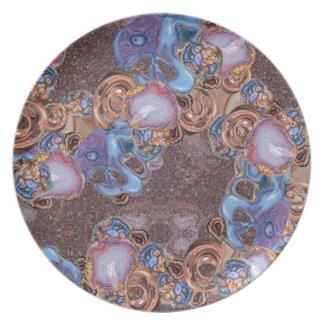 Earth Tone Beauty Party Plates