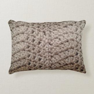 Earth tone chevron zig zag pattern decorative cushion