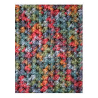 Earth Tone Crochet Postcard