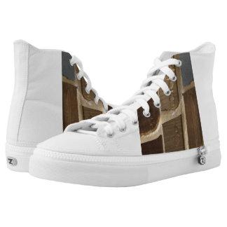 Earth tone design sneakers men size 10
