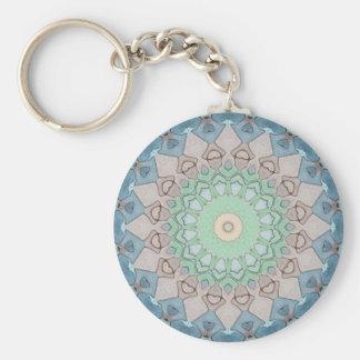 Earth Tone Pastels Mandala Key Ring