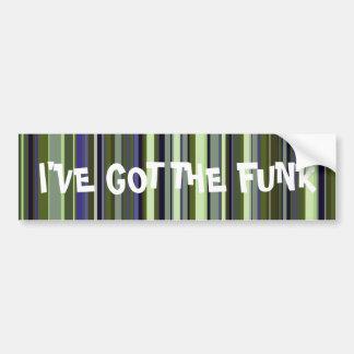 Earth Tone Retro Stripes Car Bumper Sticker