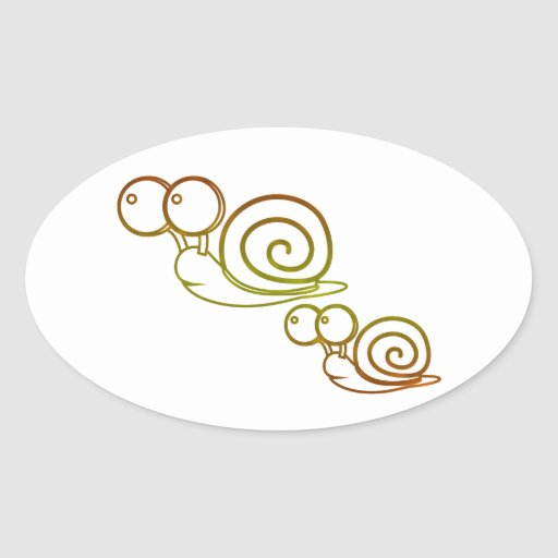 earth tone snails stickers