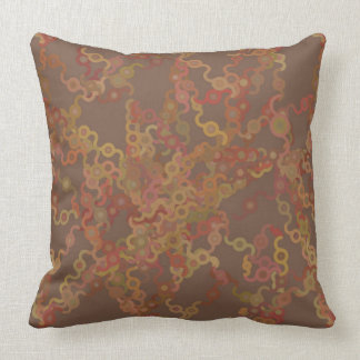 Earth Tone Squiggles Pillow