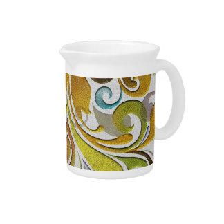 Earth tone Victorian vines pitcher