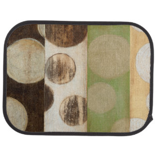 Earth Tone Wood Panel Painting with Circles Floor Mat