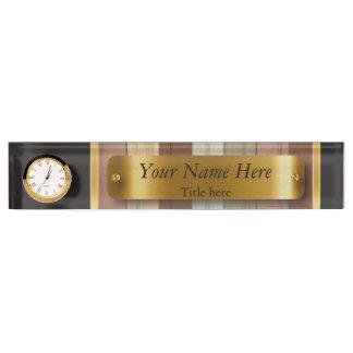 Earth Tone Wood Pattern Design Desk Nameplate