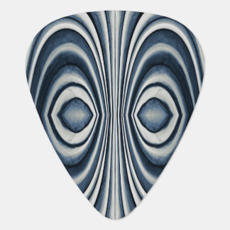 Earth Toned Blue Abstract Pattern Plectrum