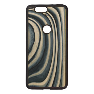 Earth Toned Blue Abstract Pattern Wood Nexus 6P Case