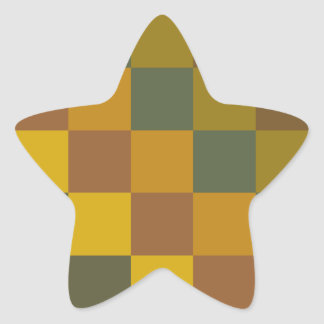 Earth toned checker pattern stickers