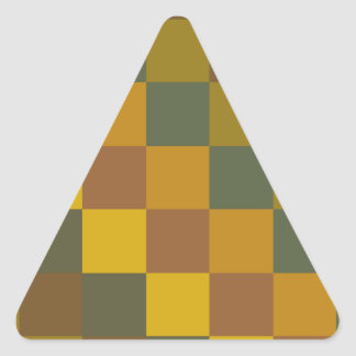 Earth toned checker pattern. triangle sticker