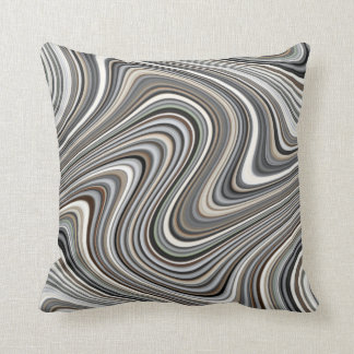 Earth Toned Multicolored Abstract Pattern Cushion