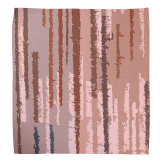 Earth Toned Multicolored Stripe Pattern Bandana