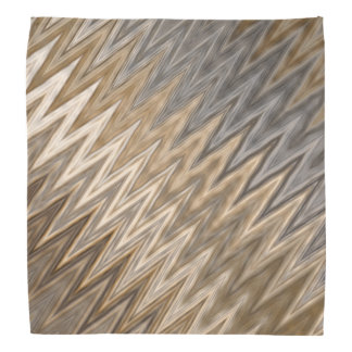 Earth Toned Wavy Pattern Bandana