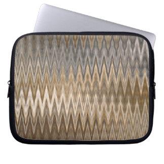Earth Toned Wavy Pattern Laptop Sleeve