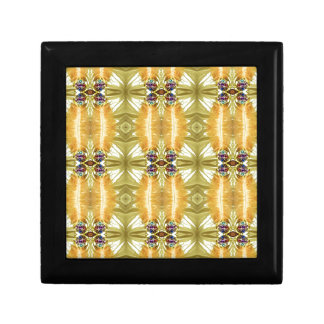 Earth Toned Yellow Green Tribal Pattern Gift Box